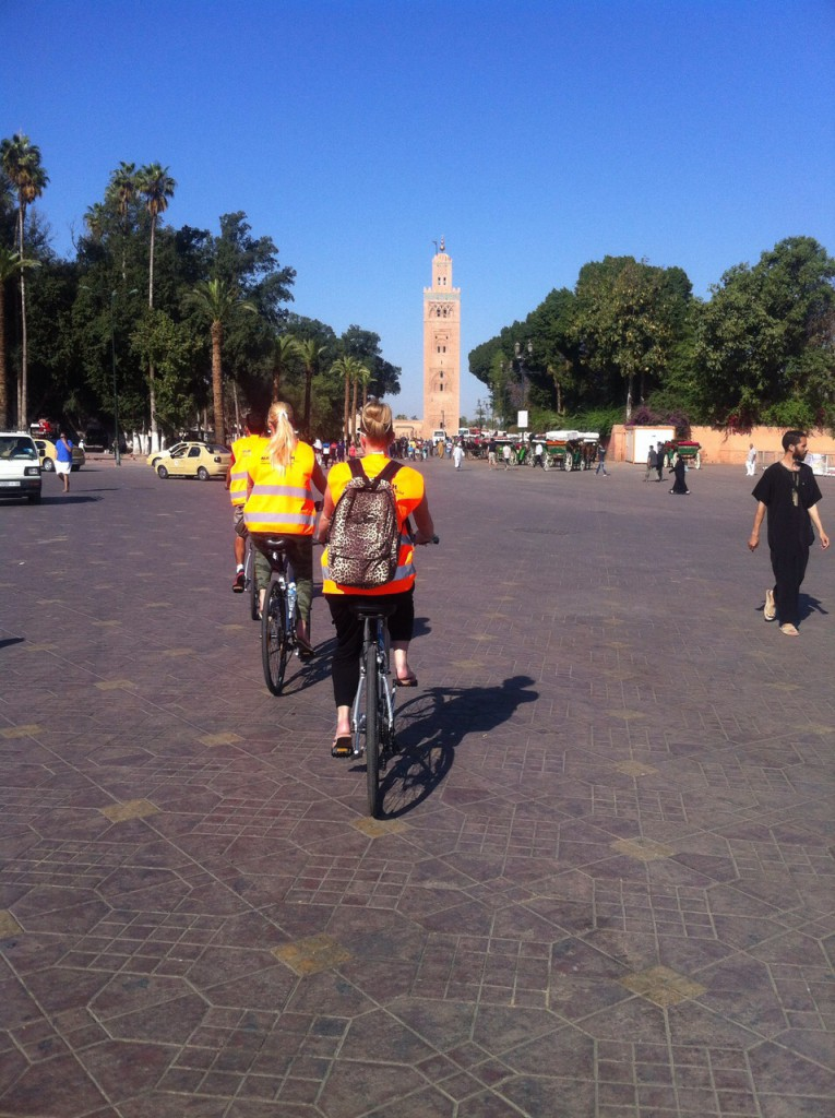 Biking at Djemaa el Fna