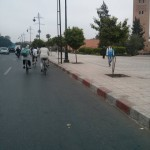 Cycling to the Koutoubia
