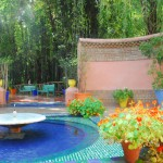 Enterance Fountain of Jardin Majorelle