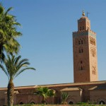 Les Jardins De La Koutoubia and the mosque